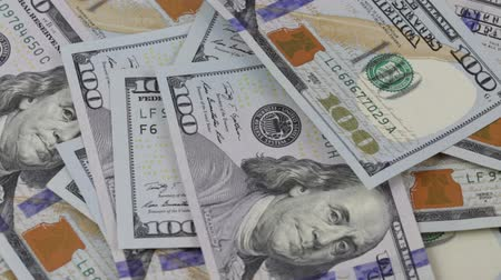 dolar : Falling paper money close-up. Background with money american hundred dollar bills