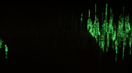 oscilante : Audio signal on oscilloscope screen. Communication and electronics. Close up
