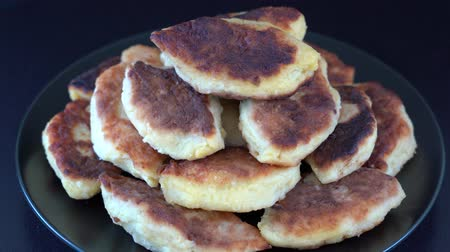 houba : Potato cakes, Ukrainian name: Potato cakes, butter Traditional Ukrainian cuisine