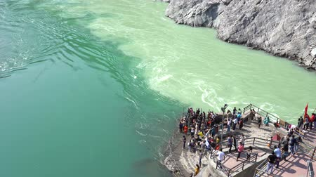 Devprayag where rivers meet and take the name Ganges River, India