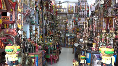 Gift shop in city Pushkar, Rajasthan, India. Souvenirs for sale for tourists