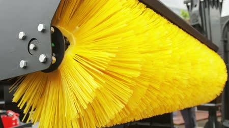 vassoura : rotation of the sweeper brush. Modern technologies in city cleaning