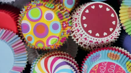 vdolky : colorful cupcakes paper packaging for Christmas and new year