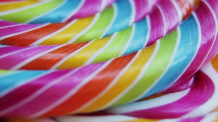 lolly : Background of striped spiral multicolor Lollipop close up