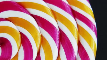 lolly : Background of striped spiral multicolor Lollipop