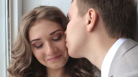 tutku : young boy kiss the girl close-up