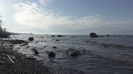 stony coast in Finland
