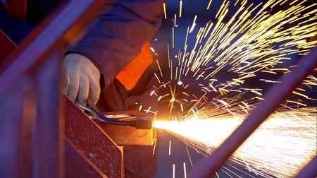 oxyacetylene : Welding in a dark factory