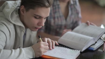 synopsis : The student writes a synopsis. Stock Footage