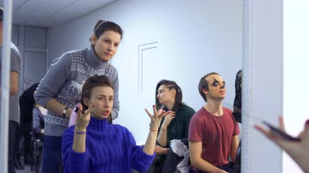 greasepaint : The actors and actress prepares to performance in theatre