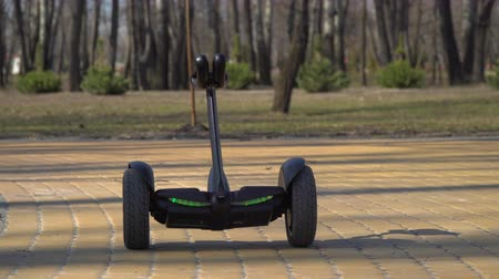 gyroscope : Smart gadget moves along the road in park