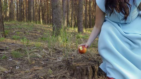 poisoned : Snow White fairytale Stock Footage