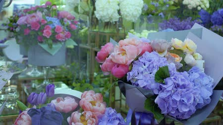 hortênsia : Variety of flowers in flower shop