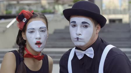 greasepaint : Two mimes suspect something