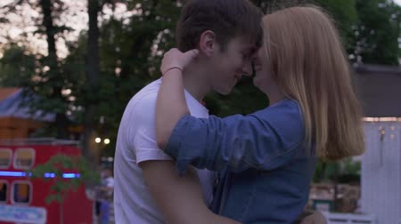 teen age : Couple in love in the park