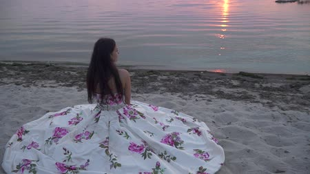 darling : Charming girl in a long evening dress