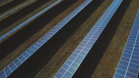 enviroment : Solar electricity station. Shot on drone