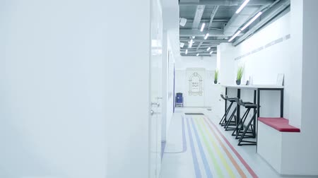 decorative : Light corridor of office space in white in a loft style. Workplace.