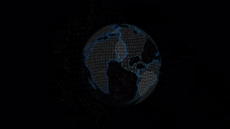 mortality : 3D animation, Earth with red dot on China spinning and more dots appearing on Europe. Spread of Coronavirus disease, Covid-19, 2019-nCov, global hazard, pandemic risk. Stock Footage