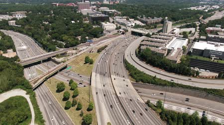 congested : Highway System And Cityscape Of Atlanta, Georgia At Daytime Stock Footage