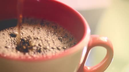 núpcias : Sequence Of Fresh Coffee Pouring Stock Footage
