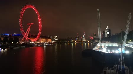 suyolu : London City Image In Night With London Eye Thames River And Westminster Palace