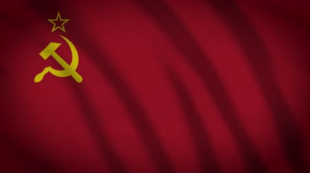 növelni : Communist Animated Flag Stock mozgókép