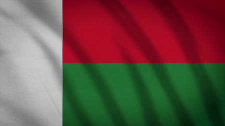 madagaskar : Madagascar Flag Waving Animation. Full Screen. Symbol Of The Country.