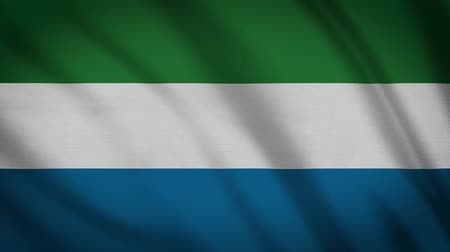 sierra leone flag : Sierra Leone Flag Waving Animation. Full Screen. Symbol Of The Country. Stock Footage