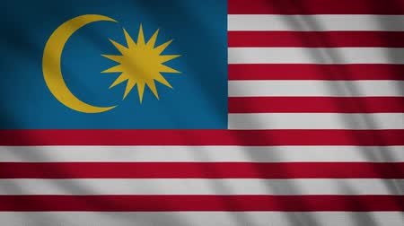 cabeçalho : Malaysia Flag Waving Animation. Full Screen. Symbol Of The Country.