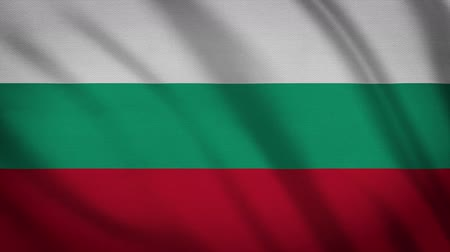 bułgaria : Bulgaria Flag Waving Animation. Full Screen. Symbol Of The Country.