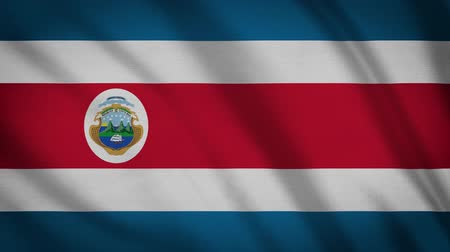 равный : Costa Rica Flag Waving Animation. Full Screen. Symbol Of The Country.
