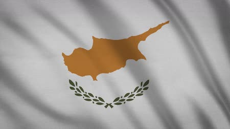greek flag : Cyprus Flag Waving Animation. Full Screen. Symbol Of The Country.