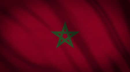 color surge : Morocco Flag Waving Animation. Full Screen. Symbol Of The Country. Stock Footage