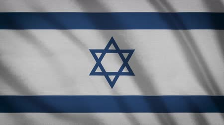 héber : Israel Flag Waving Animation. Full Screen. Symbol Of The Country.