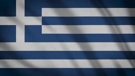 greek flag : Greece Flag Waving Animation. Full Screen. Symbol Of The Country. Stock Footage