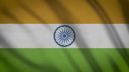 üç renkli : india Flag Waving Animation. Full Screen. Symbol Of The Country.
