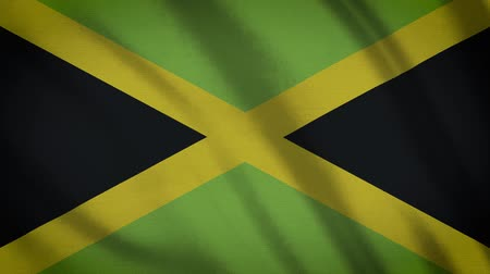tüm : Jamaica Flag Waving Animation. Full Screen. Symbol Of The Country.