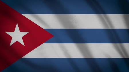 cubano : Cuba Flag Waving Animation. Full Screen. Symbol Of The Country.