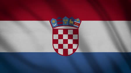 alegori : Croatia Flag Waving Animation. Full Screen. Symbol Of The Country. Stok Video
