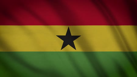 modo : Ghana Flag Waving Animation. Full Screen. Symbol Of The Country.