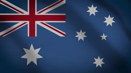 Океания : Australia Flag Waving Animation. Full Screen. Symbol Of The Country.