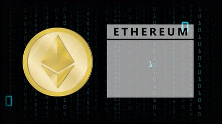 omkleden : Crypto Currency Logo Ethereum With Changed Numbers In Backgrounds