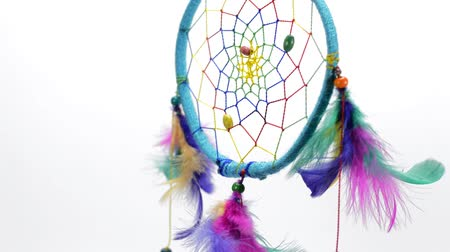 indios nativos : Dreamcatcher Handmade With Feathers Threads And Beads.