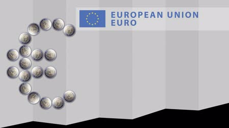 belasting invullen : Euro Sign created from falling Euro coins