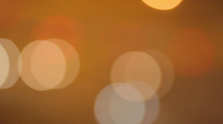 малая глубина резкости : Bokeh Lights In Yellow Orange Colour. Abstract Isolated Blurred Circular Spots
