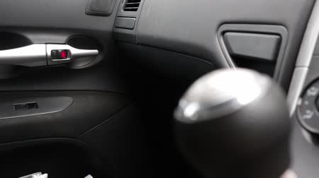 lever : Manual Gear Shift Video Stock Footage