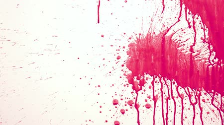 neon ink : red Paint Splashing in white background