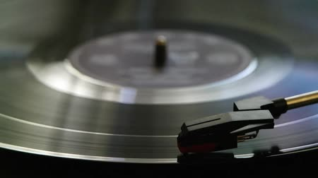 retro revival : Turntable Vinyl Playing Close Up