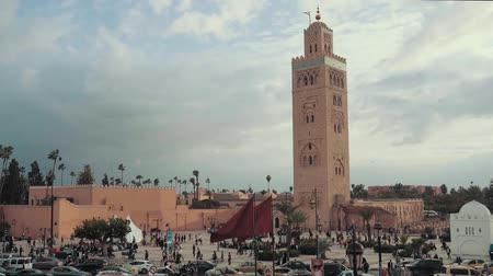 torre : Great Koutoubia mosque in the heart of Marrakech, Morocco